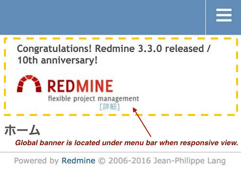 Congratulations Banner for Redmine 10th Anniversary.